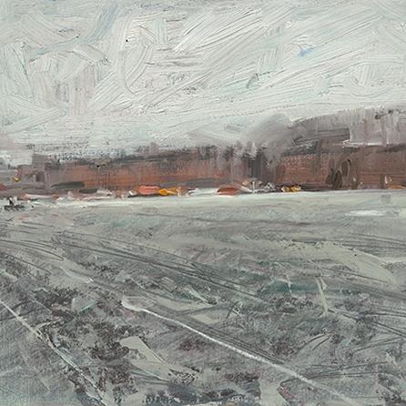 Shaun Tan Winter Street, downtown New York City  2012-2014 Oil on board 20 x 15c UNDER OFFER