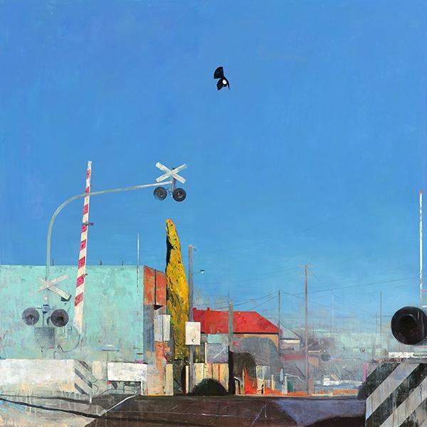 Shaun Tan Crossing 2015 Acrylic and oil on canvas 150 x 150cm $18, 500