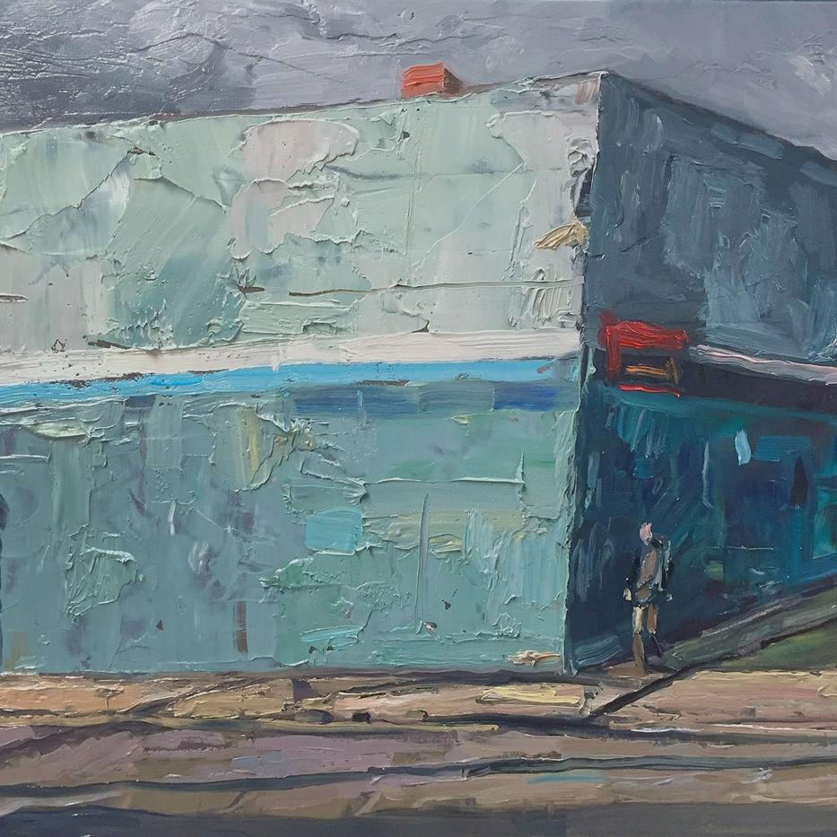 Shaun Tan Lean 2016 Oil on board 24 x 20cm NOT AVAILABLE