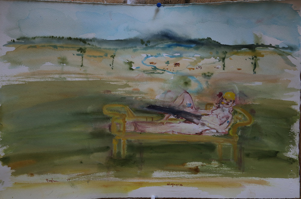 Rodney Pople Olympia in Ballarat 2017 Watercolour on paper, unframed 57 x 38cm $3000 including commission and GST