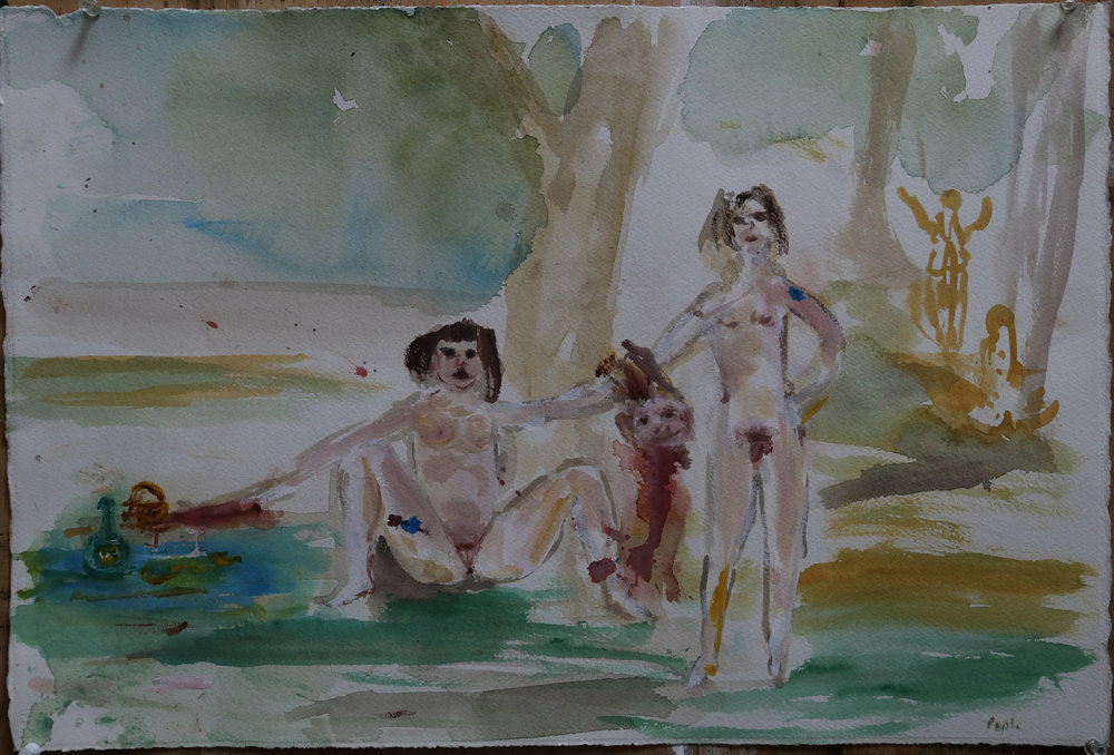 Rodney Pople Sunny South 2017 Watercolour on paper, unframed 57 x 38cm $3000 including commission and GST