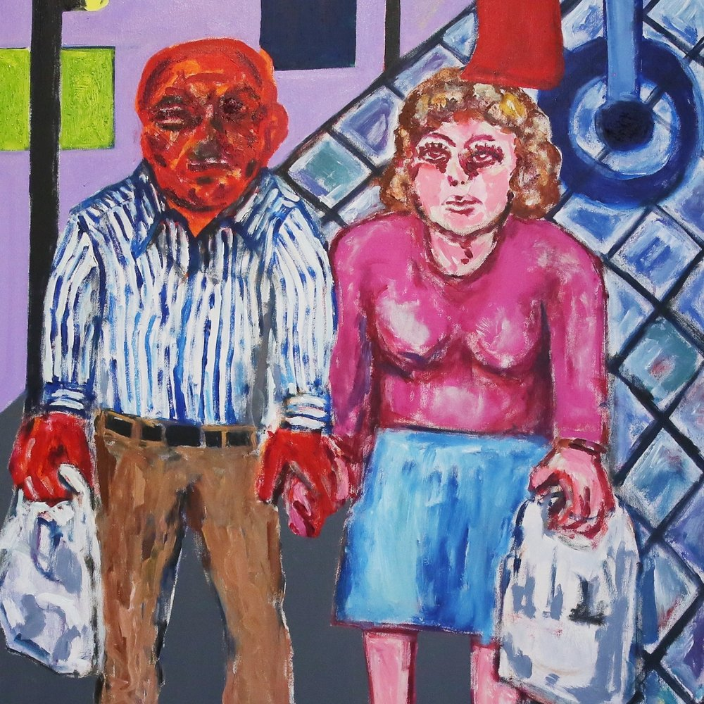 Jaedon Shin Shopping 2016 acrylic on canvas 101.6 x 81.5cm $2, 200