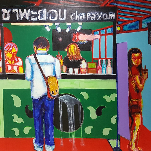 Jaedon Shin Chapayom  2017 acrylic on canvas 200  x 270cm $10, 000