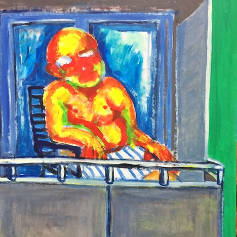 Jaedon Shin Balcony 2015 acrylic on canvas 171 x 79cm $2, 800