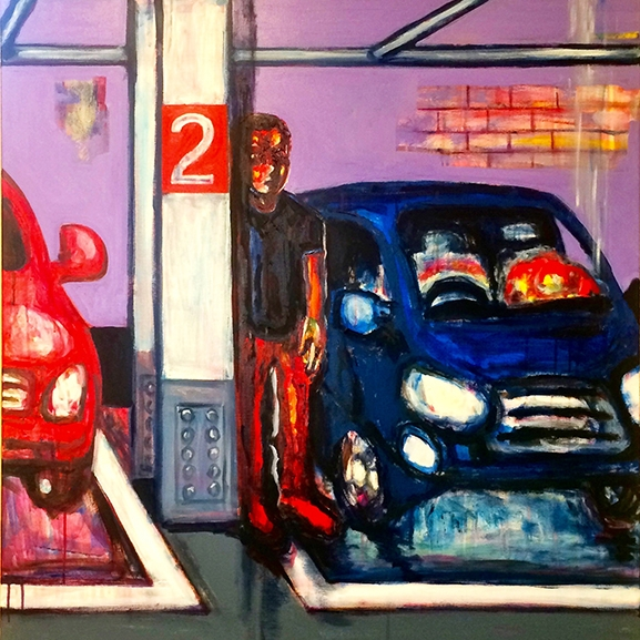 Jaedon Shin Wilson Parking 2016 acrylic on canvas 156 x 107cm $3, 000