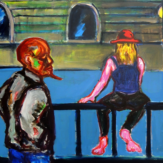 Jaedon Shin Night Street 2015 acrylic on canvas 97 x 123cm $2, 800