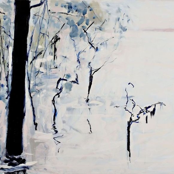 Craig Barrett Murray Flood  2011 Oil on linen 60  x 200cm $ 14, 000