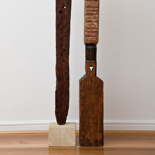 Craig Barrett Totem Post, 1999 Wood and stone 145 x 18 x 14cm $3, 300