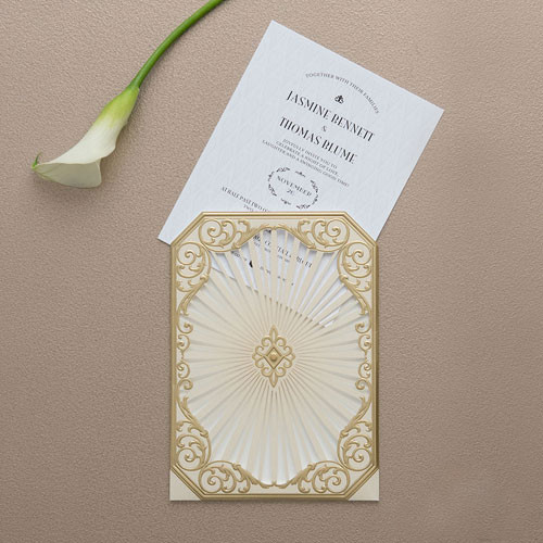 Art Deco Laser Embossed Invitations - BUY NOW