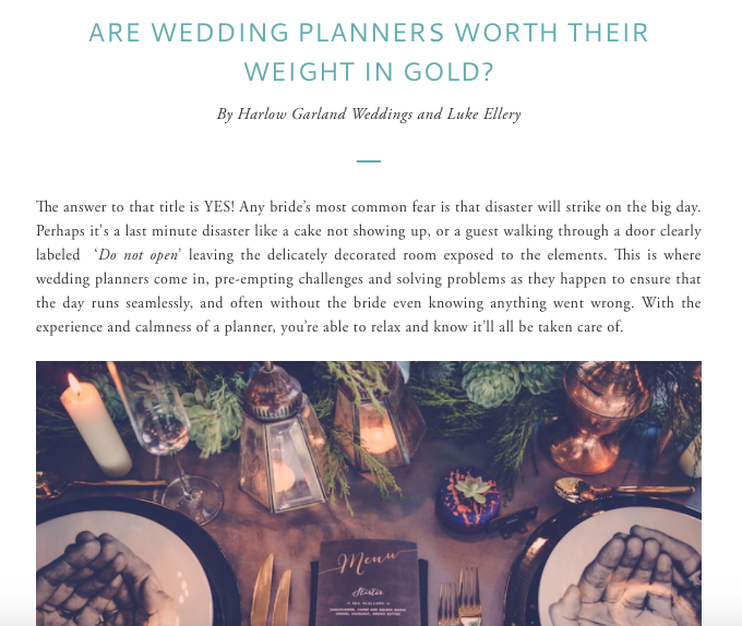 Click through to read our post on Auckland Weddings about why you should hire a planner and how to pick the best one.