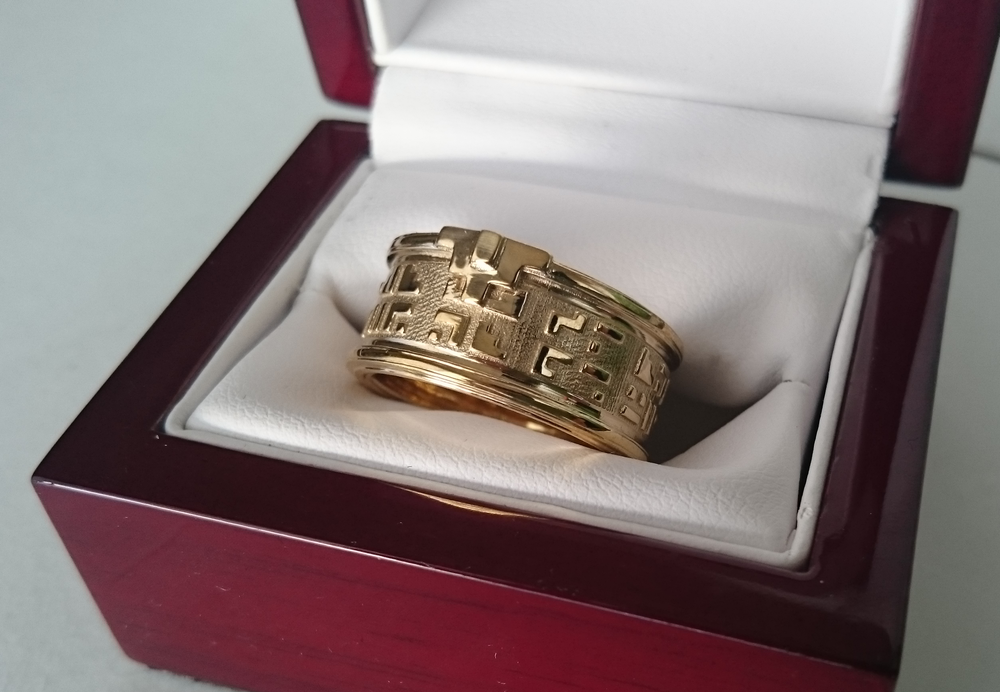 Bronze 3D Print of the ring