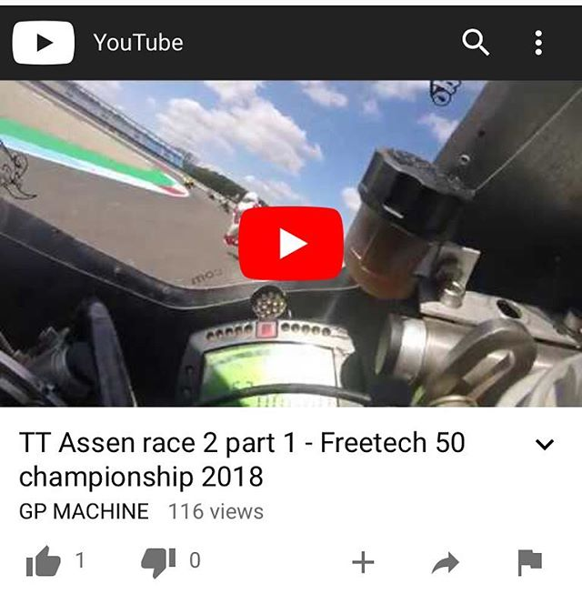I've loaded up some on board video from the Dutch Classic at TT Circuit Assen if you want to check it out. Head to Facebook.com/GrandPrixMachine or find my YouTube channel