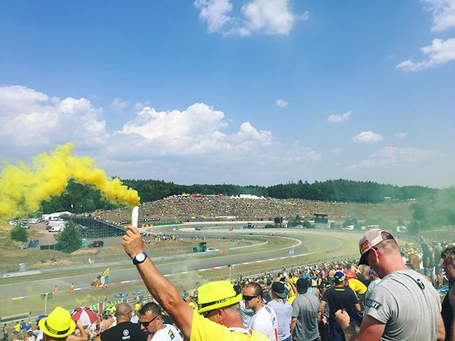 European MotoGP, full of all the hype and enthusiasm I expected! What a mental crowd. I couldn't imagine how many kegs were emptied into the crowd's guts and how many tonnes of water was poured onto the crowd to stop the heat stroke. Regardless it was one hell of a build up over the last two days. Tomorrow will be fireworks for sure!! #CzechGP #everyroundisahomeroundforVR