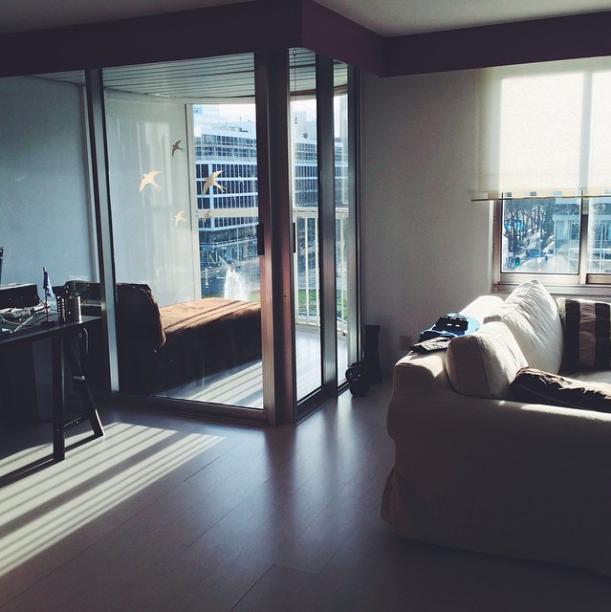 Шикарная гостиная с балконом в Роттердаме