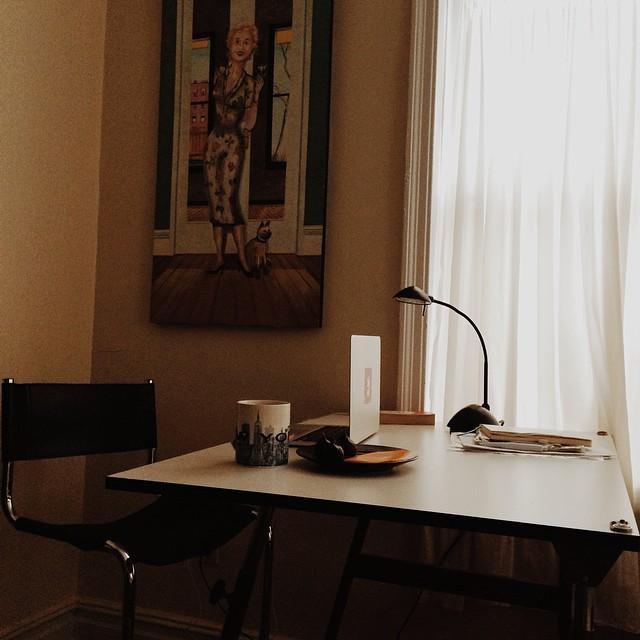 мой рабочий стол в Нью-Йорке