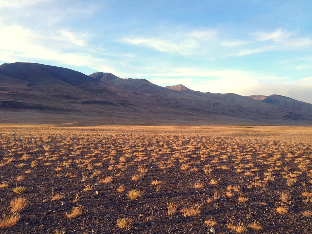 По дороге от заставы до мест проживания кыргызов