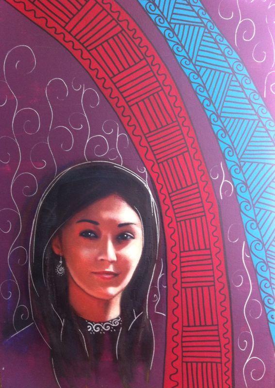 Рисунок моей тети Лейлы Махат