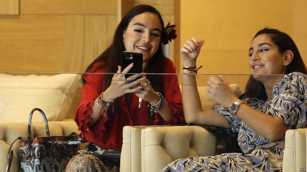 Арзу и Лейла Алиевы