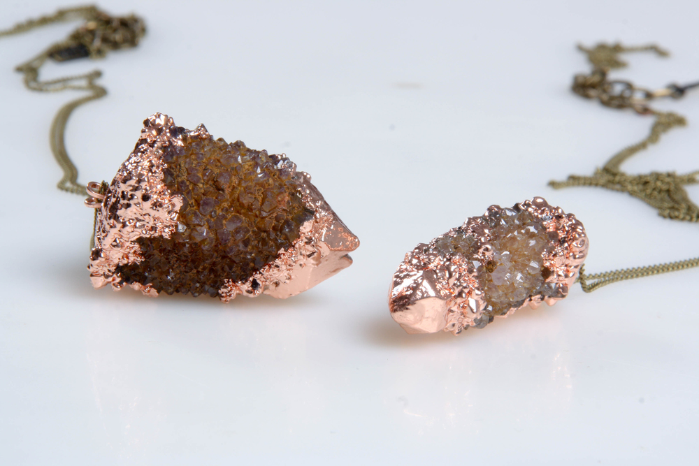 Copper plated spirit quartz
