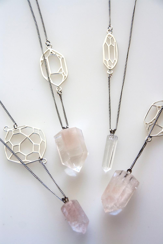 Geometric Crystal Pendant (Silver)