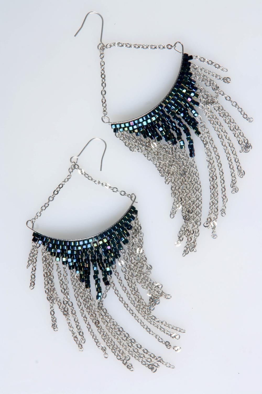 Vikki Hoop Earrings (Silver)