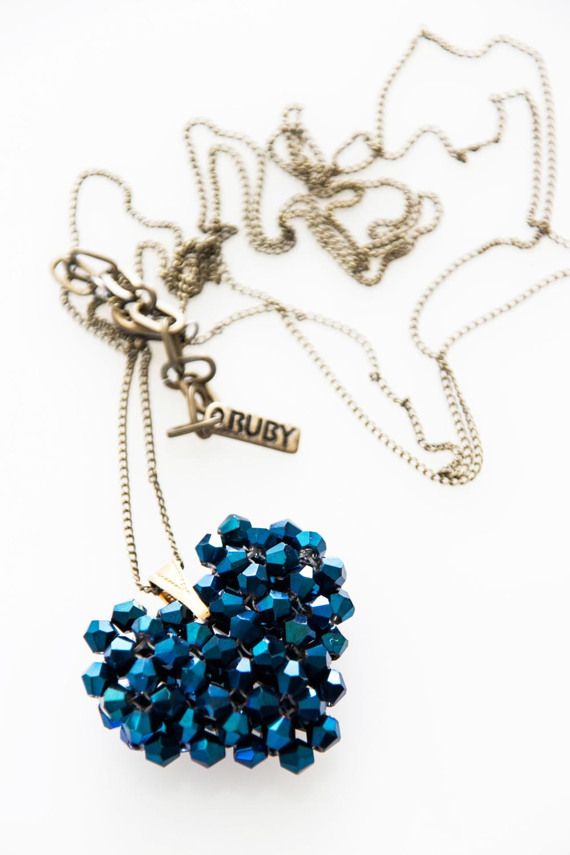 Saphire Blue Woven Heart (3226B).jpg