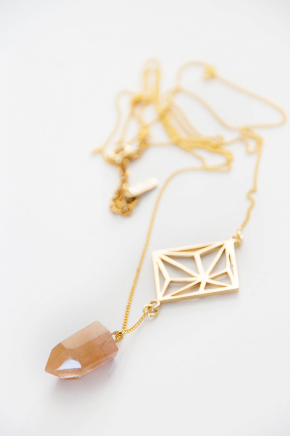Geometric Crystal necklace / 4042