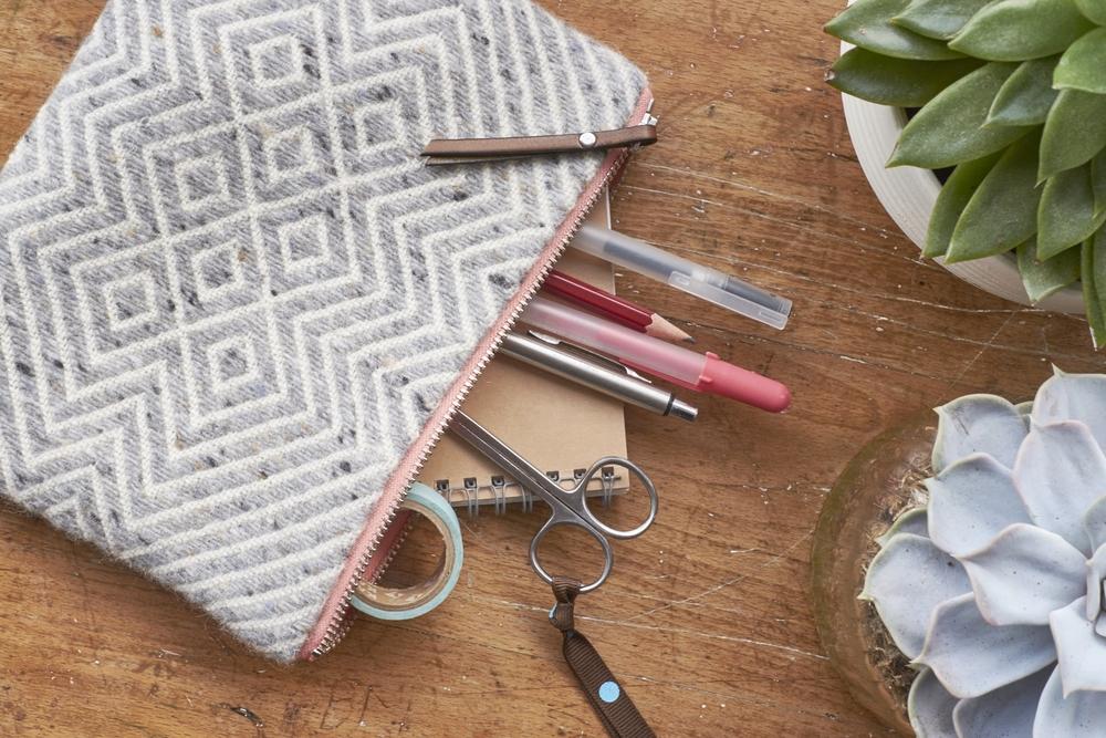 Handwoven Woollen Goods - Newgrange Travel Pouch