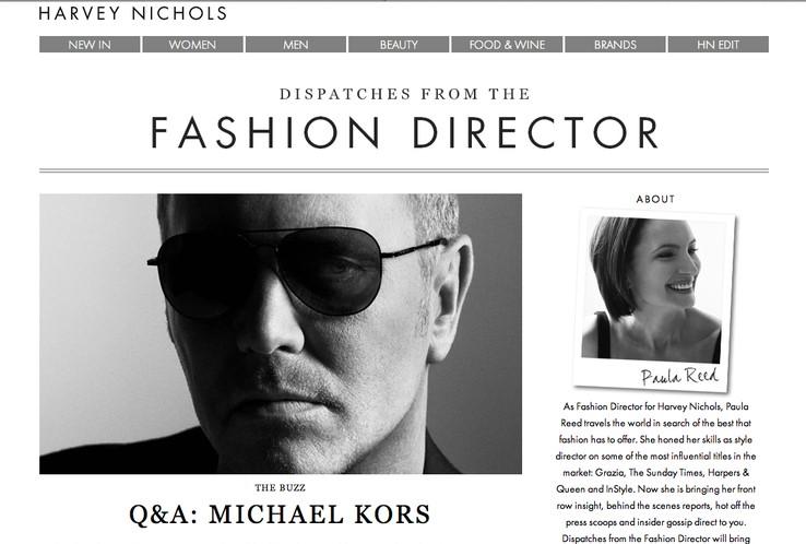 그리치아에서 하비 니콜스로 갈아탄 에디터 폴라 리드의 블로그 사진 출처:http://www.harveynichols.com/blog/fashiondirector/
