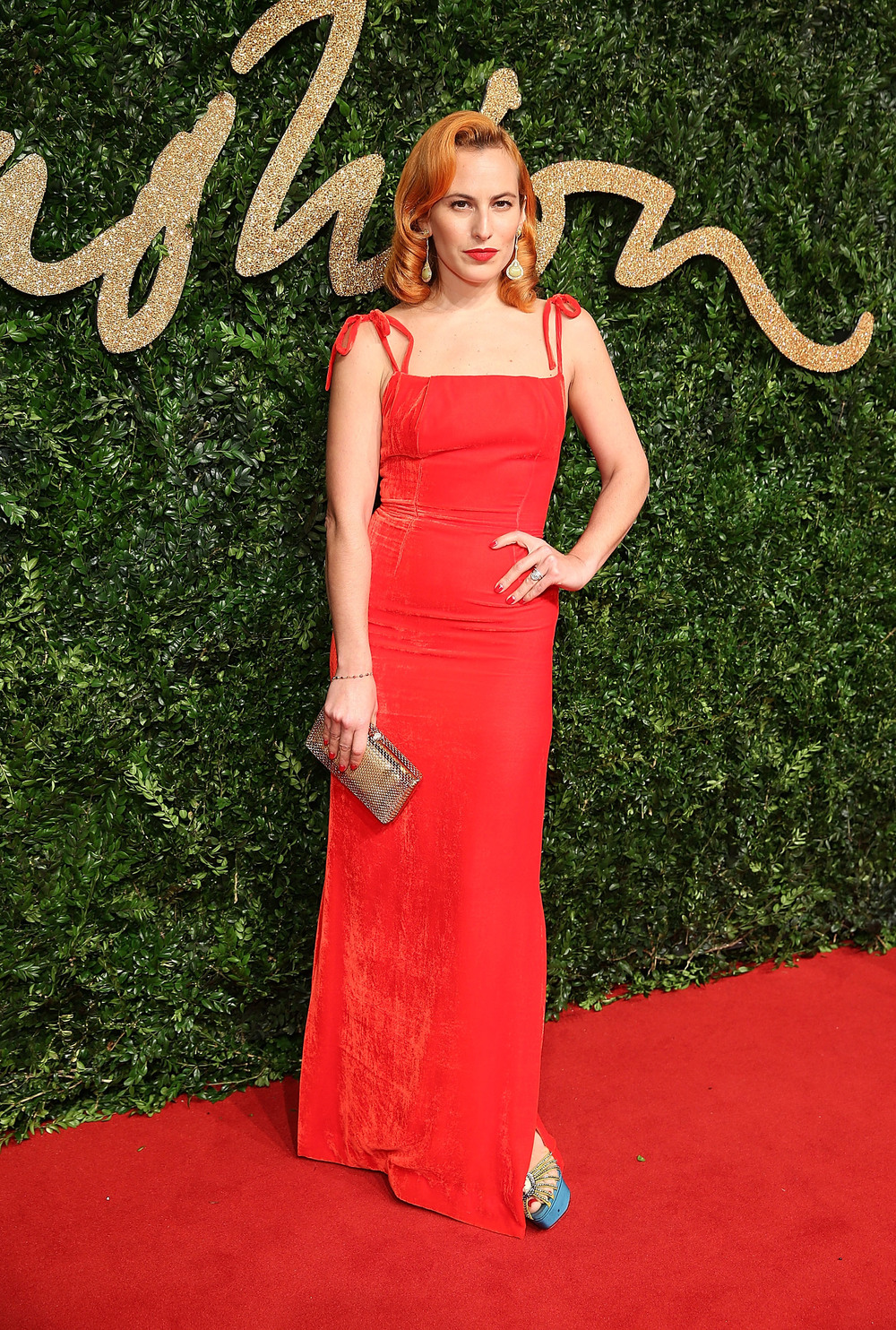 Charlotte Olympia Dellal attends the British Fashion Awards 2015 in partnership with Swarovski credit Mike Marsland British Fashion Council.JPG