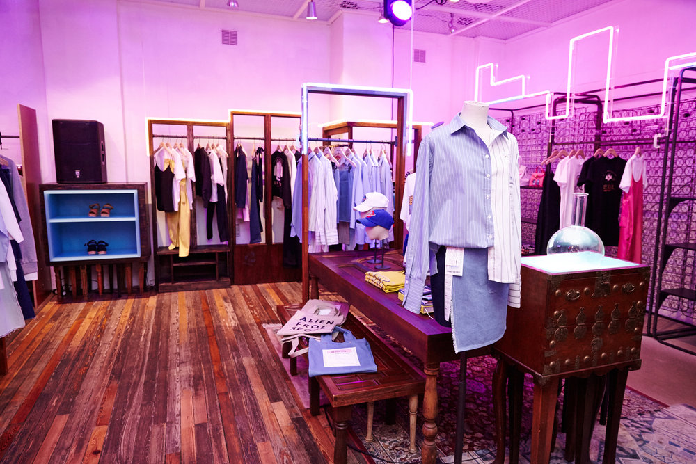 Korean designers collections displayed throughout the whole of the Beaker store