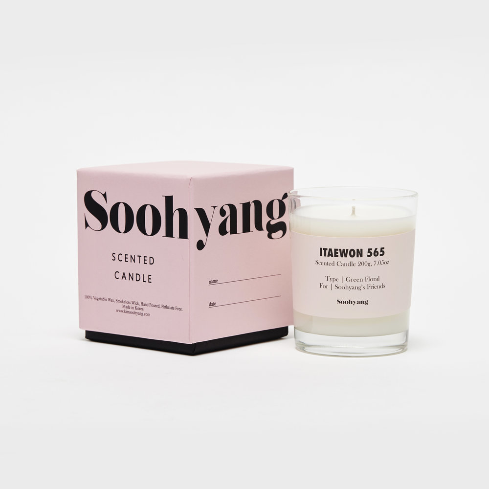 Villa Soohyang scented candle, Itaewon 565.
