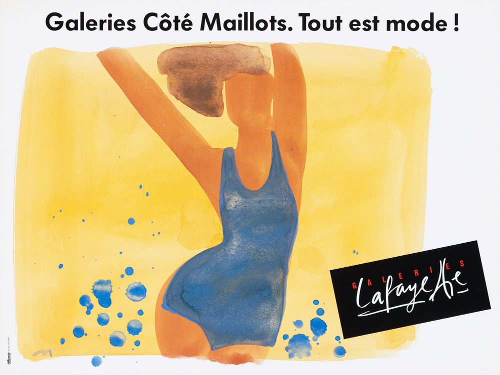Illustration: Mats Gustafson, Galeries Côté Maillots. Tout est mode!, ca. 1990 ©Eldorado/Bruno Suter