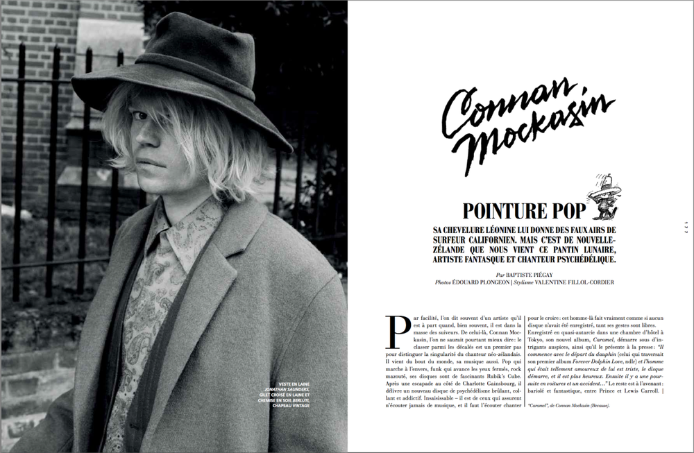 Connan Mockasin - L'Officiel Hommes - ph. Edouard Plongeon