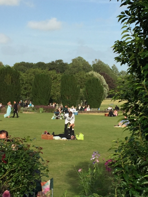 Picnic time at beautiful Glyndebourne