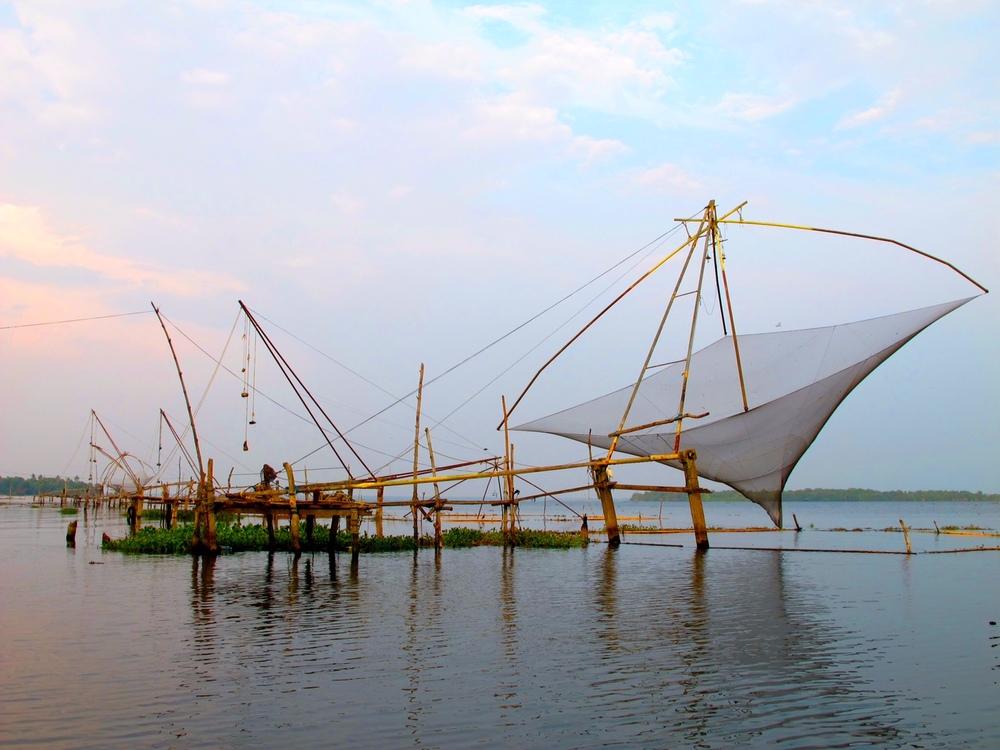 The Chinese fishing nets in Cochin, Kochi.