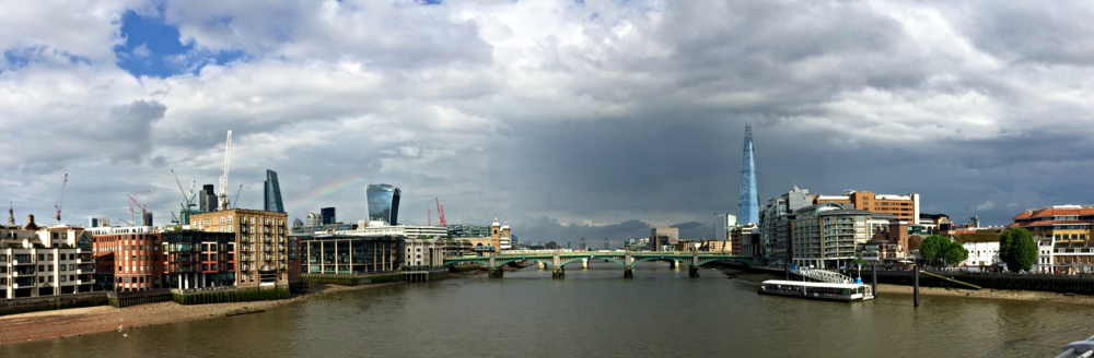 Great view of the London skyline from the Millennium Bridge. How many landmarks can you name?