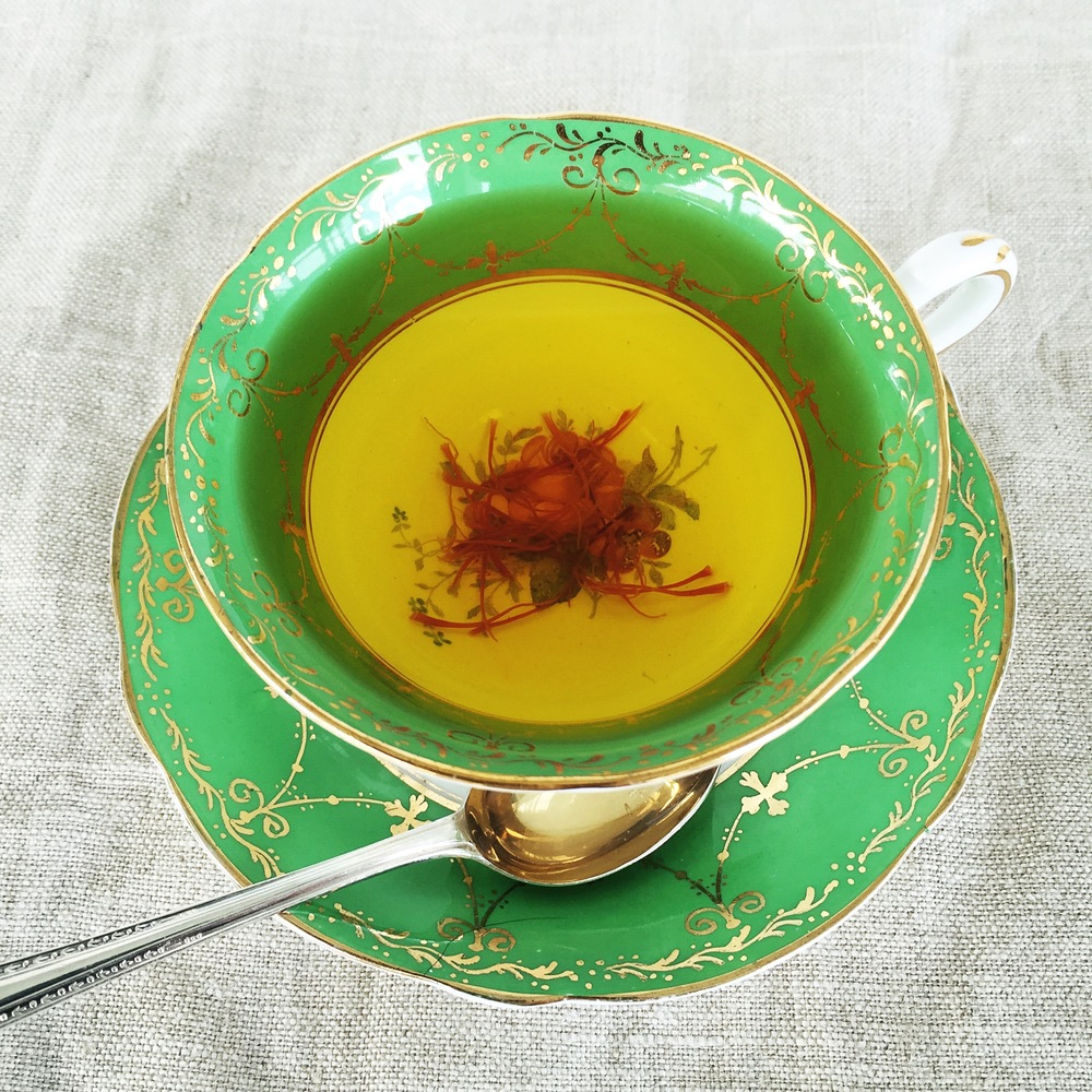Saffron tea, lifts your mood better than an ordinary cup of tea.