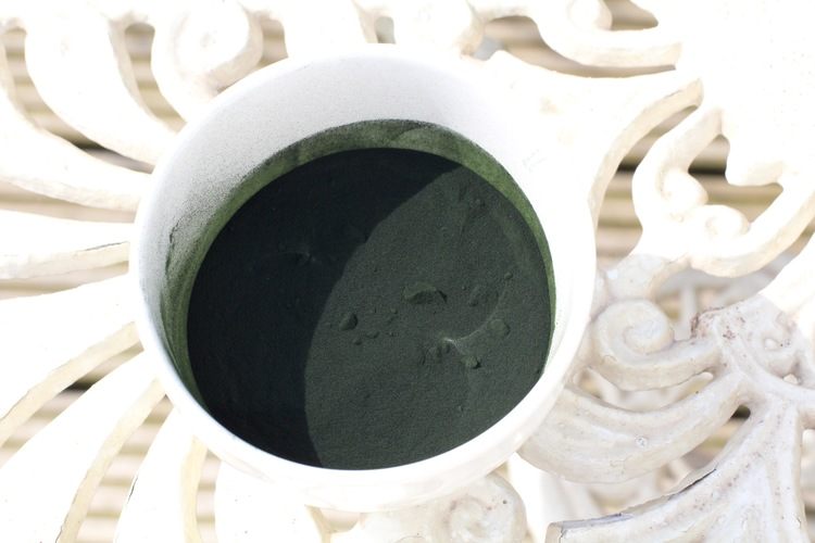 Spirulina, my favourite energy giving green powder.