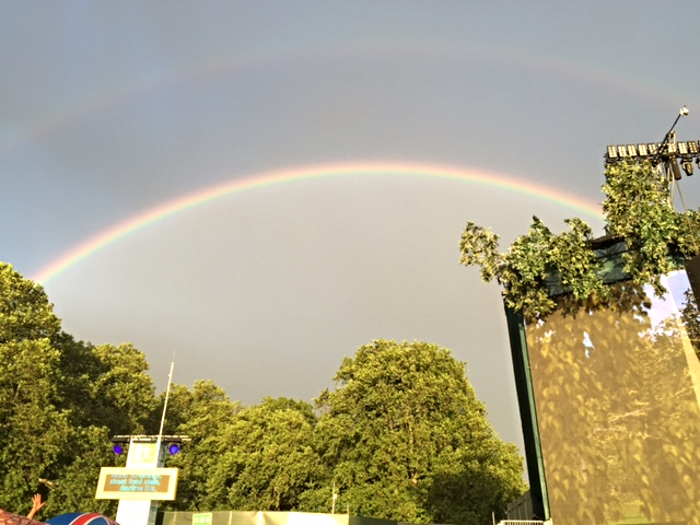 Lovely double rainbow at the BSTHydePark Festival after light rain.