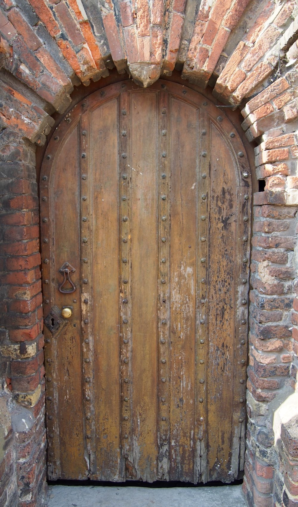 An ancient door in Rye, East Sussex.