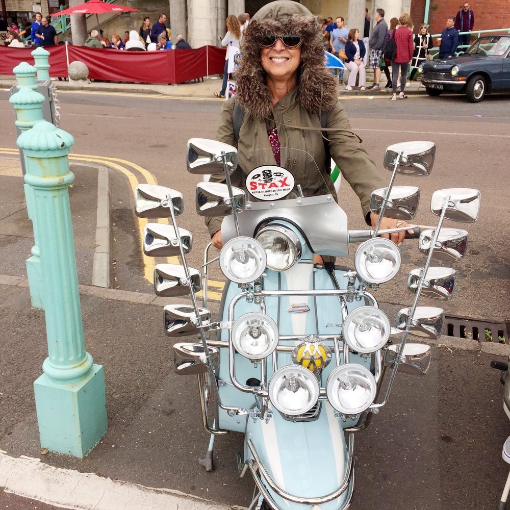 Wearing my parka for Modculture, held in Brighton every August Bank Holiday weekend.