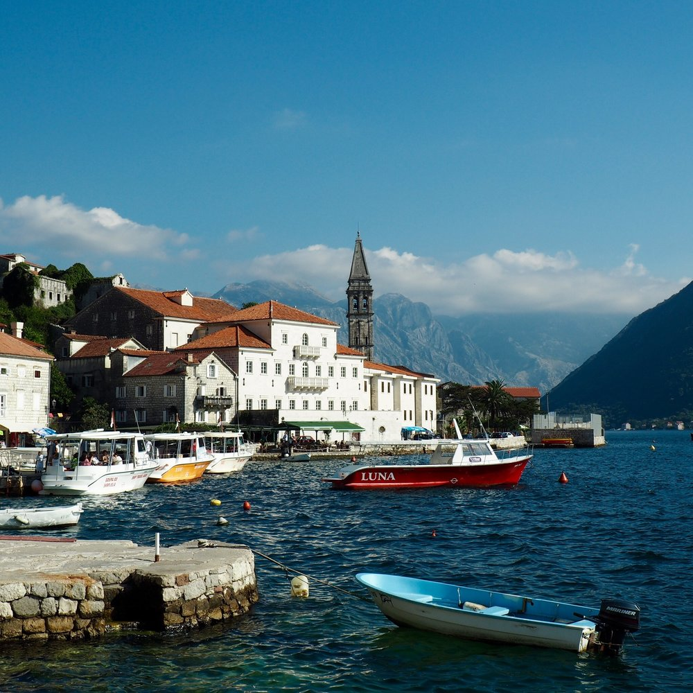 Perast in the Bay of Kotor, Montenegro
