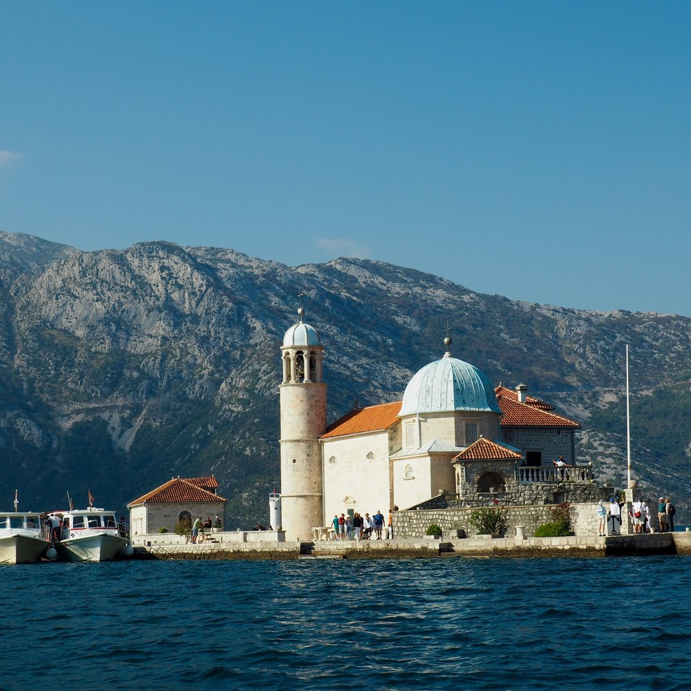 Island off Perast in the Bay of Kotor