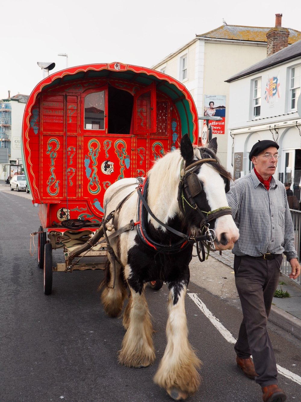 Horse & cart in Hastings.