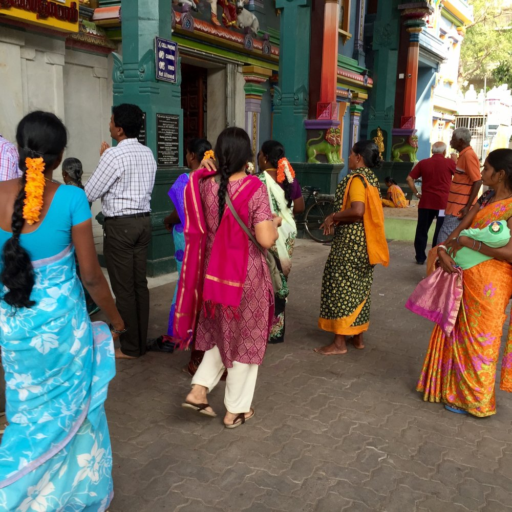 Pondicherry colourful ladies