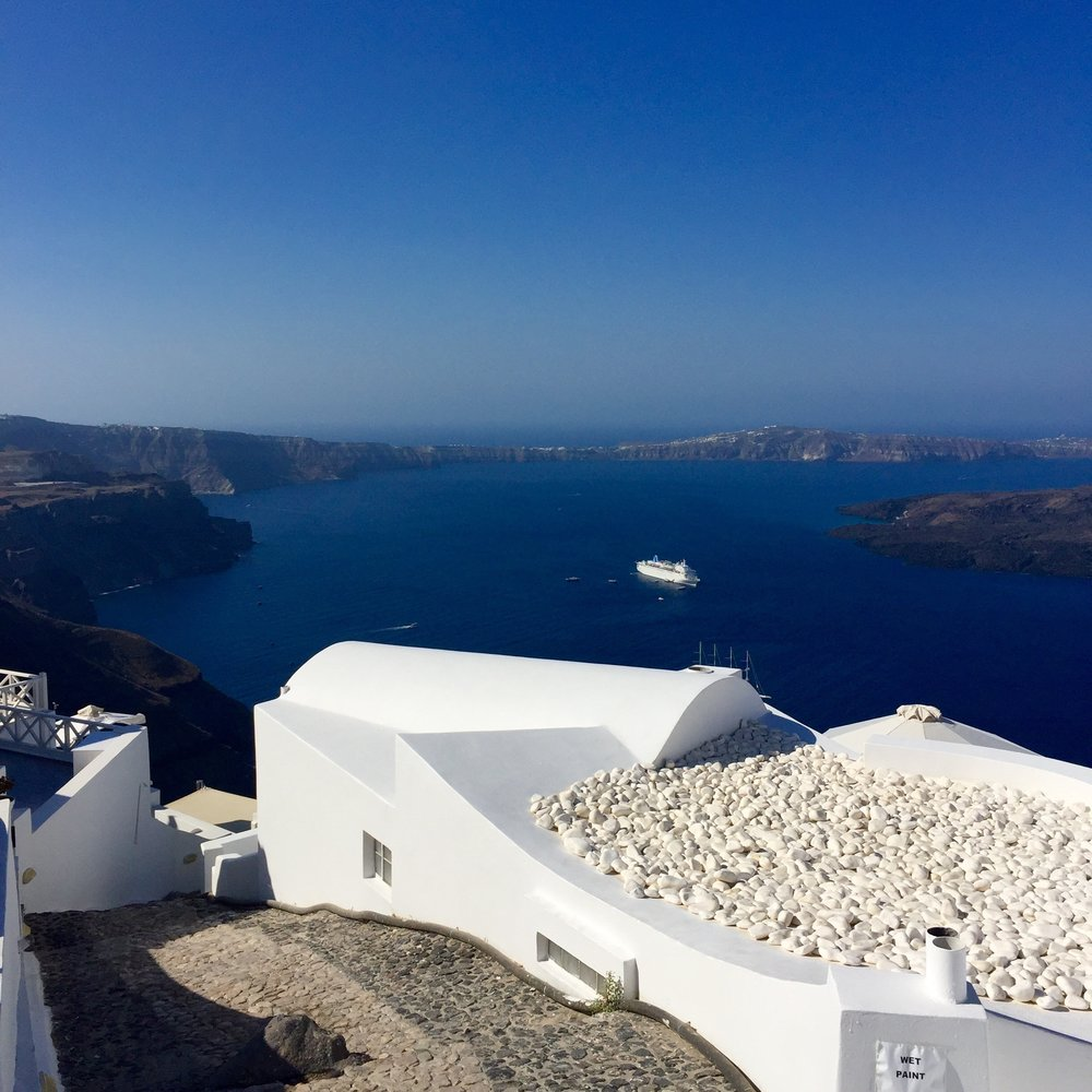 The blues & whites of Santorini