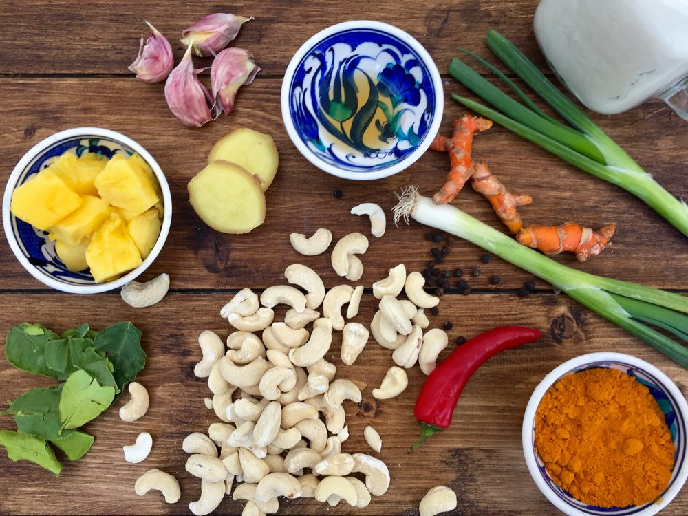 Ingredients for my veggie curry