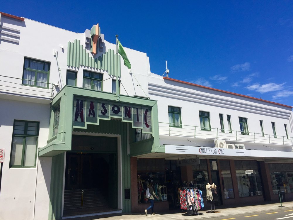 The Art deco masonic hotel, napier, new zealand.