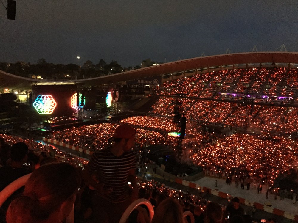 Coldplay in Sydney.
